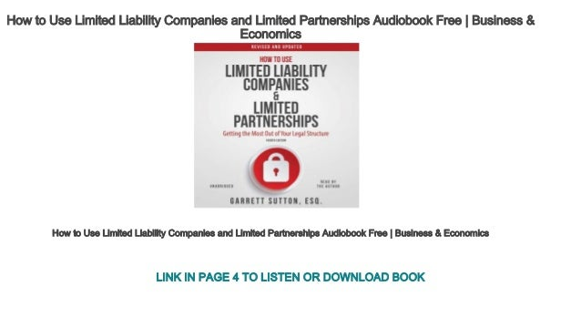 how to use limited liability companies and limited