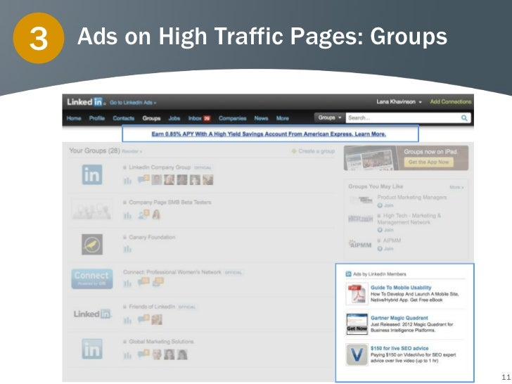 3   Ads on High Traffic Pages: Groups                                        11
