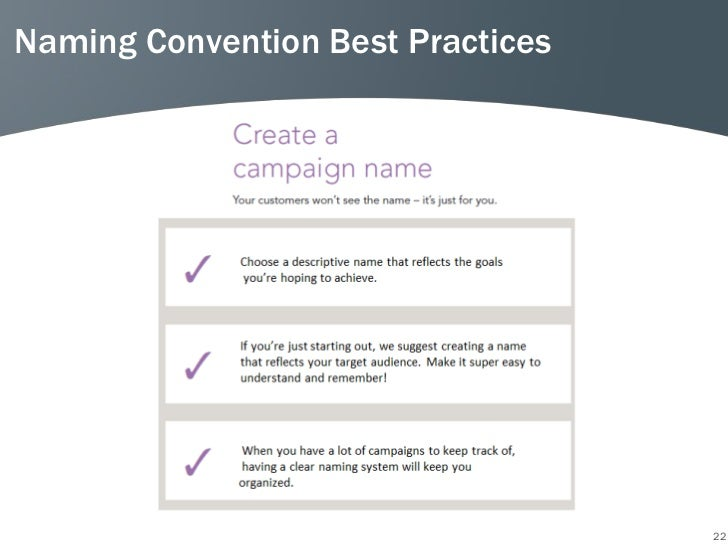 Naming Convention Best Practices                                   22
