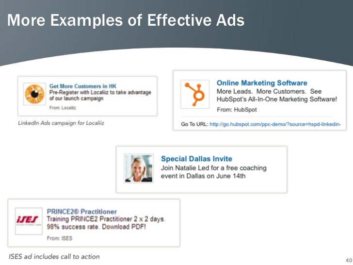 More Examples of Effective Ads                                 40