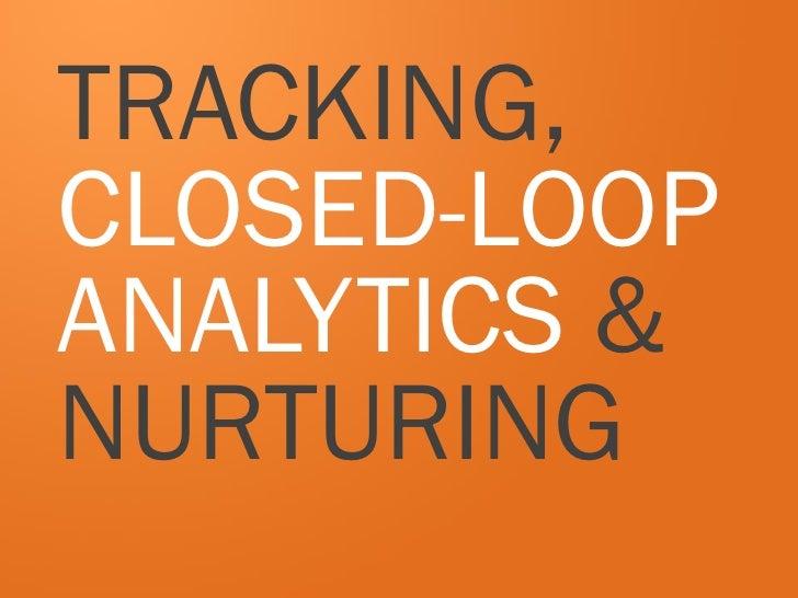 TRACKING,CLOSED-LOOPANALYTICS &NURTURING