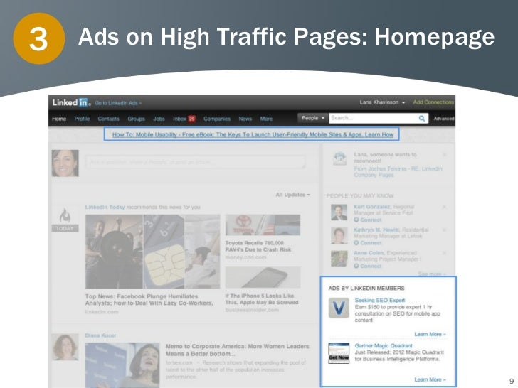 3   Ads on High Traffic Pages: Homepage                                          9