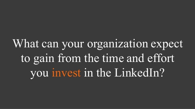 How to use linked in for fundraising Slide 3