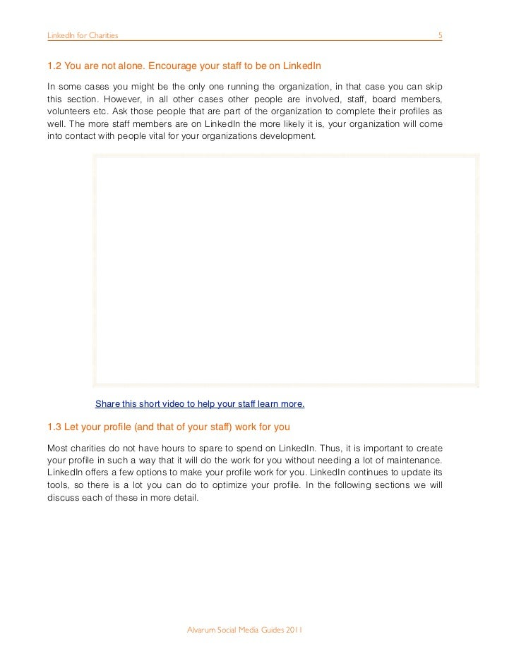 How to use linkedin for your charity alvarum social media guides 2011 5 stopboris Images