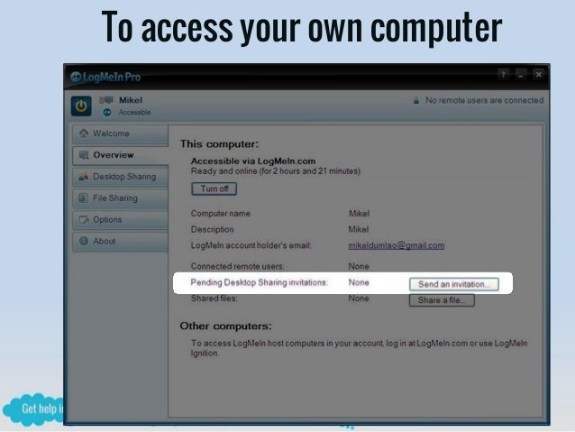 how to add a computer to logmein remotely