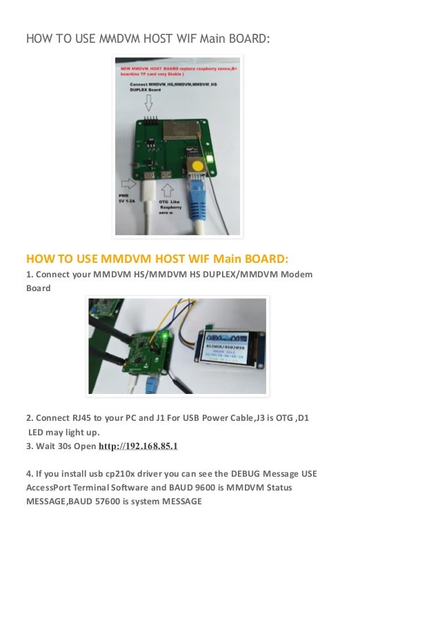How to use mmdvm host - main board