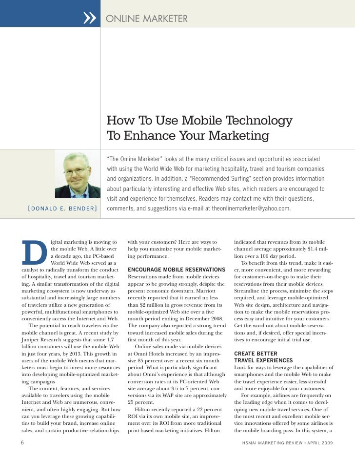 ››         ONLINE MARKETER                                          How To Use Mobile Technology                          ...