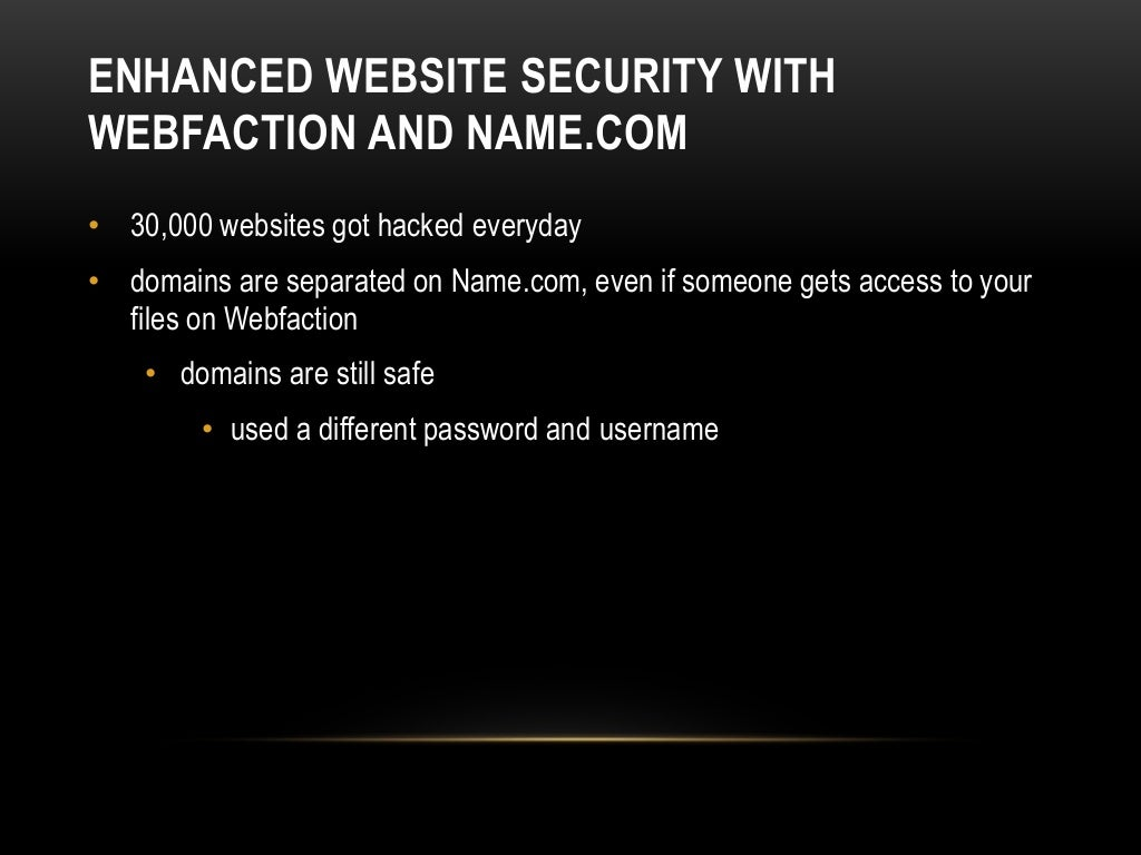 How To Use Name For Domain Registration And Webfaction For Hosting