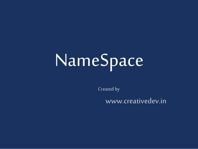 How to use namespace in php?