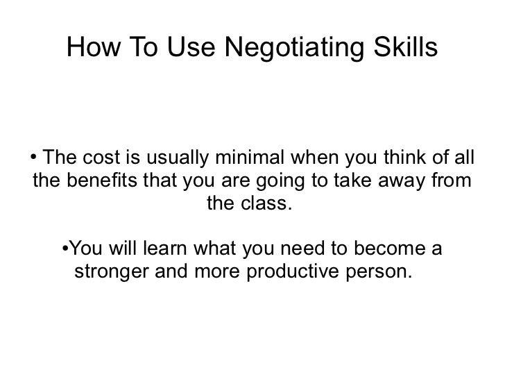 negotiating skills .