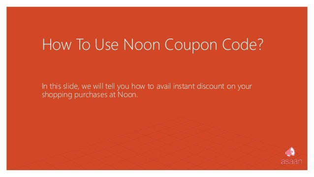 How to use noon coupon code at Noon UAE website