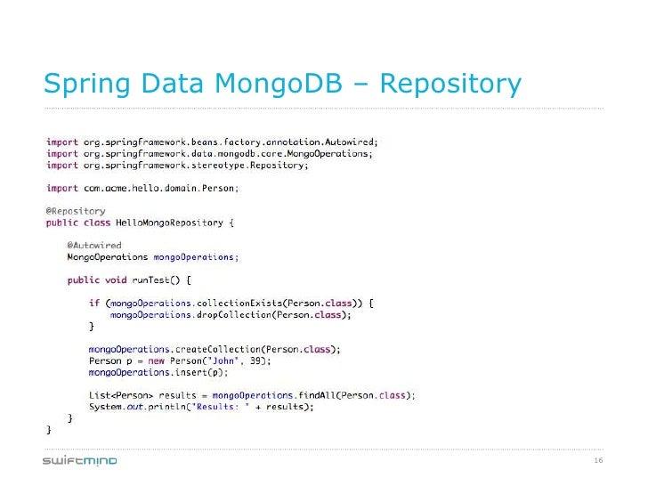 Spring Data MongoDB – Repository                                   16