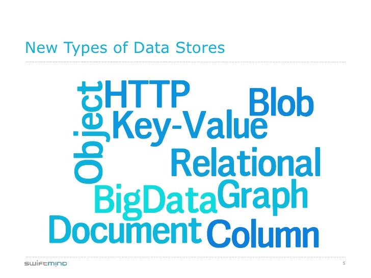 New Types of Data Stores                           5