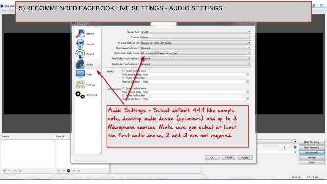 How to use OBS (open broadcaster software) to stream to facebook live