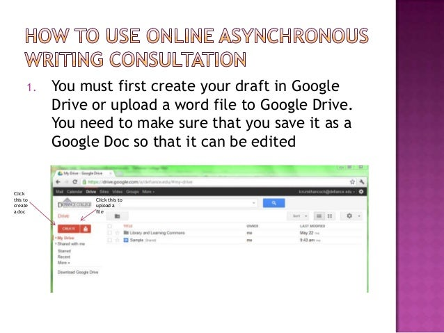1.   You must first create your draft in Google           Drive or upload a word file to Google Drive.           You need ...