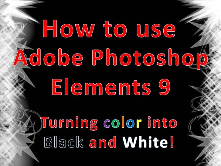 • Computer• Picture you want to edit• Adobe Photoshop Elements 9  software installed