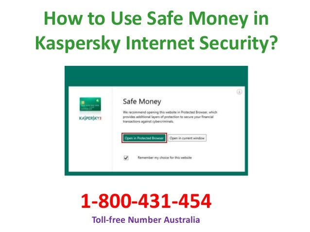How to Use Safe Money in Kaspersky? Call 1800-431-454