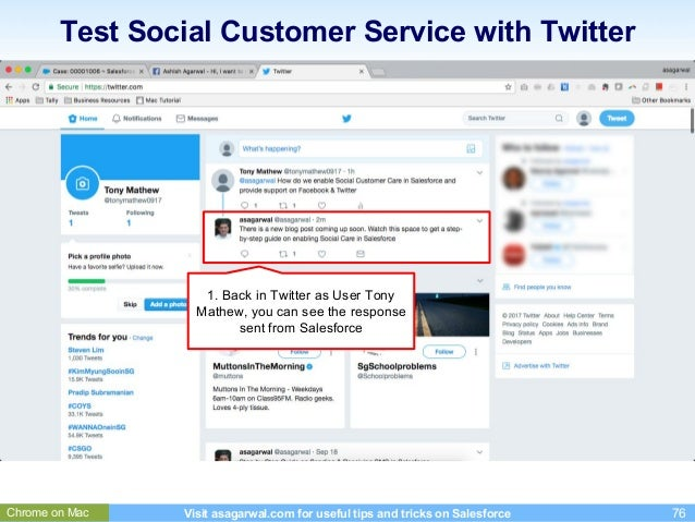 How to use Salesforce to Provide Customer Service on Facebook & Twitt…