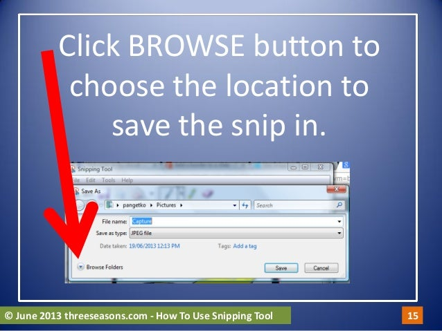 how to use snip tool in powerpoint