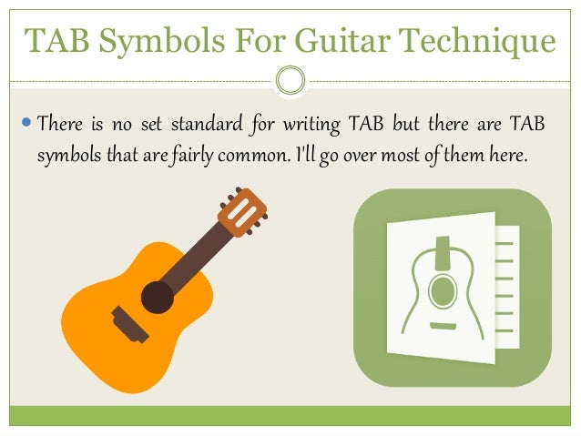 TAB Symbols For Guitar