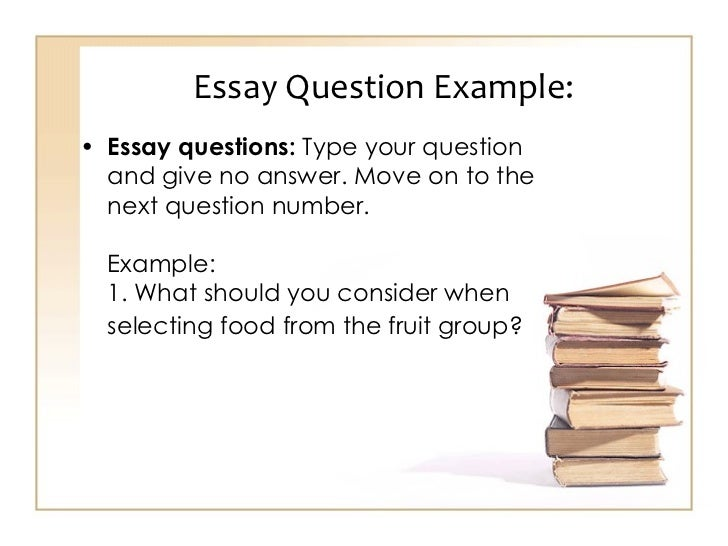 Essay question generator