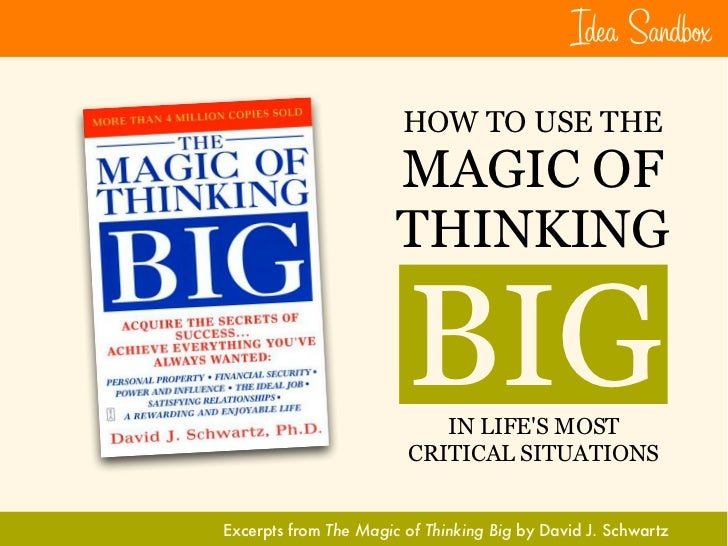 Idea Sandb×                         HOW TO USE THE                        MAGIC OF                        THINKING        ...