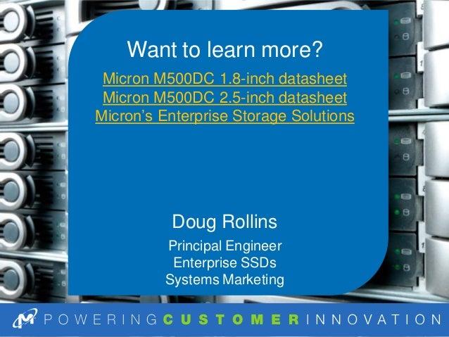 How to Use the Micron M500DC Enterprise SATA SSD