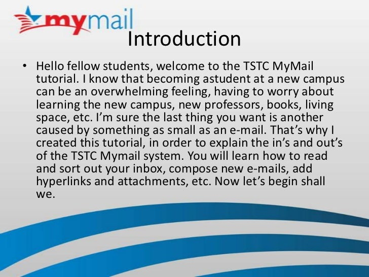 mymail tstc How to use the tstc mymail system