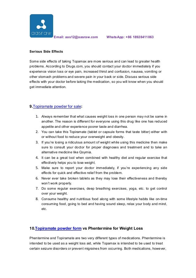 How To Use Topiramate Powder For Weight Loss
