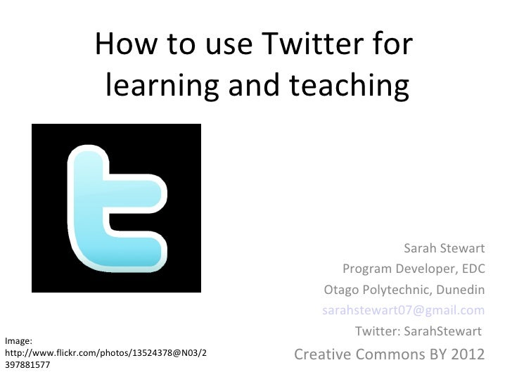 How to use Twitter for                   learning and teaching                                                            ...