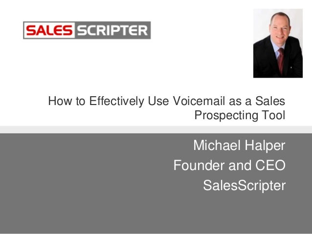 How to Use Voicemail as a Sales Prospecting Tool