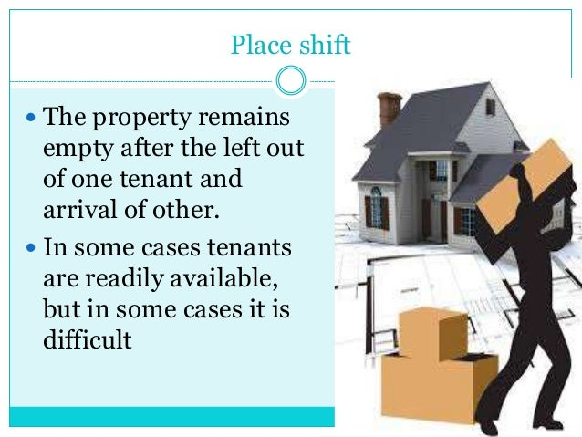  The property remains empty after the left out of one tenant and arrival of other.  In some cases tenants are readily av...