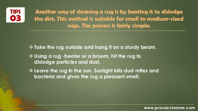 ... 8. Another Way Of Cleaning A Rug ...