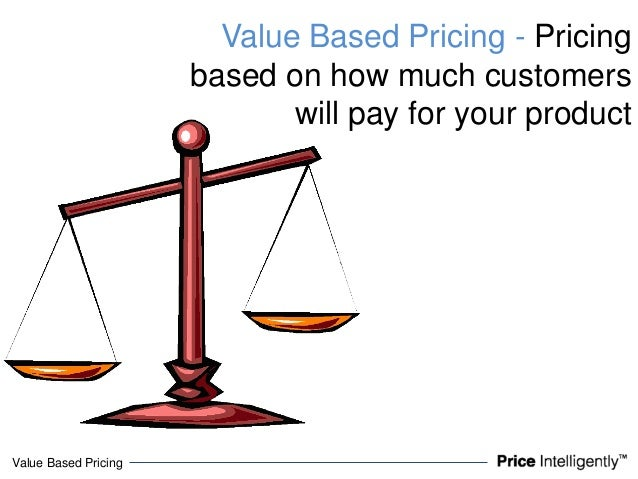 Value Based PricingValue Based Pricing - Pricingbased on how much customerswill pay for your product