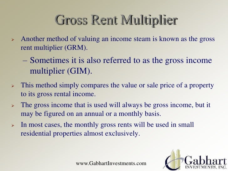 Valuing A Property With A Gross Rent Multiplier