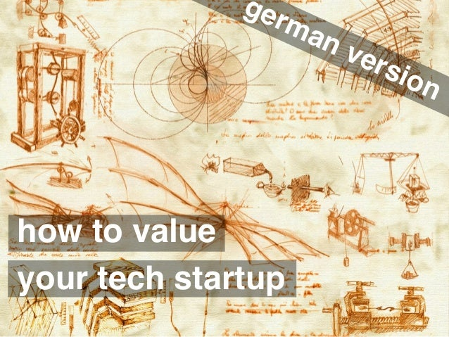 makeastartup.com how to value your tech startup german version