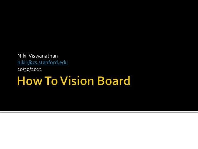 Nikil Viswanathannikil@cs.stanford.edu10/30/2012