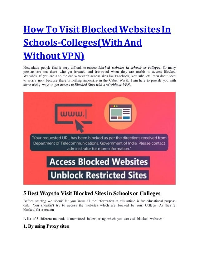 unblocked proxy sites for school