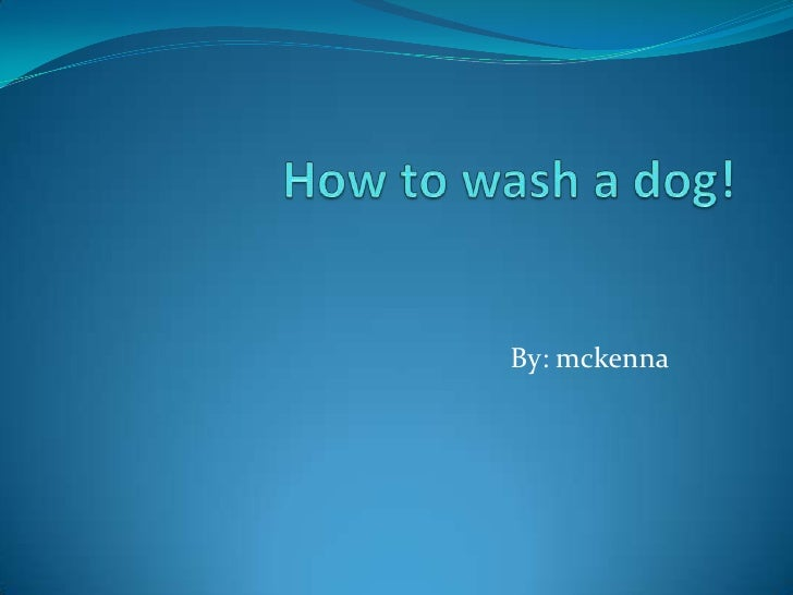 How to wash a dog!<br />By: mckenna<br />