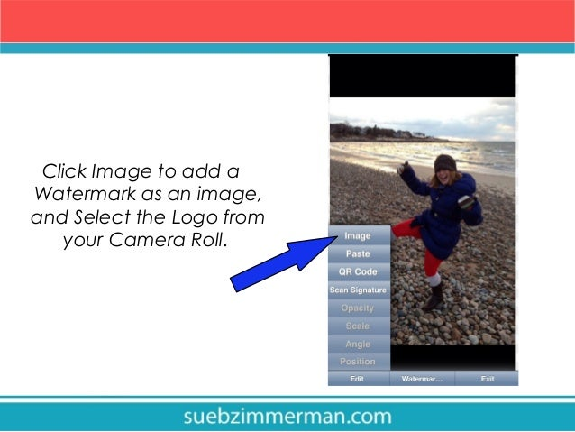 How to watermark your instagram photos 8 click image to add a watermark ccuart Image collections