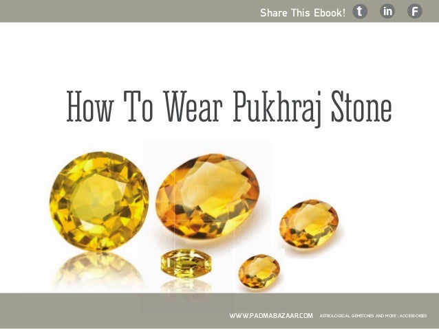 how to wear pukhraj on thursday