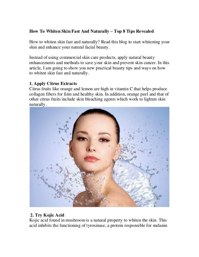 How To Whiten Skin Fast And Naturally Top 8 Tips Revealed