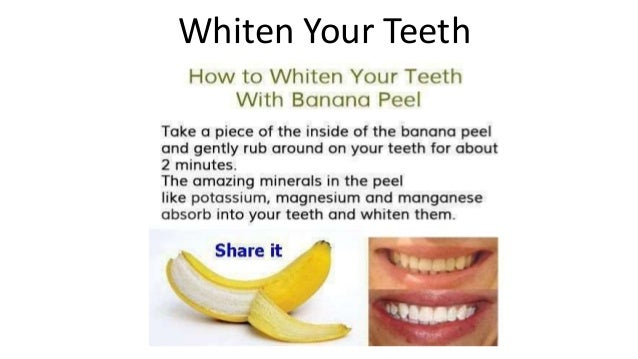 Image result for banana peel teeth