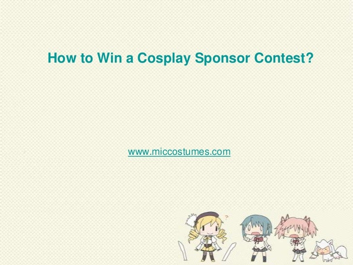 How to win a cosplay contest
