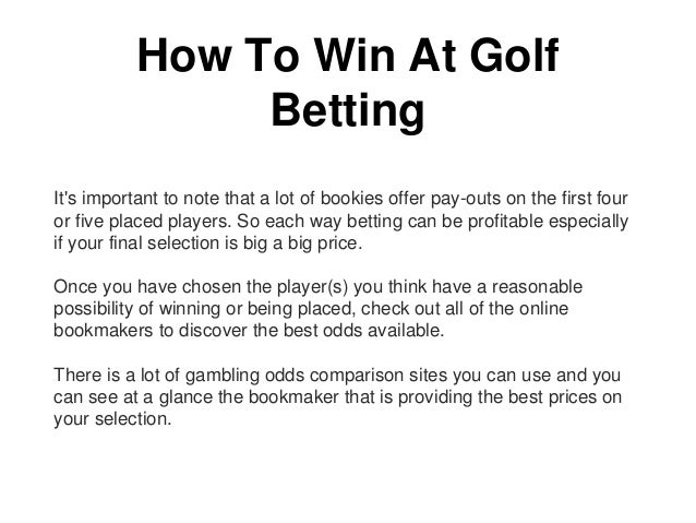 How to win at golf betting
