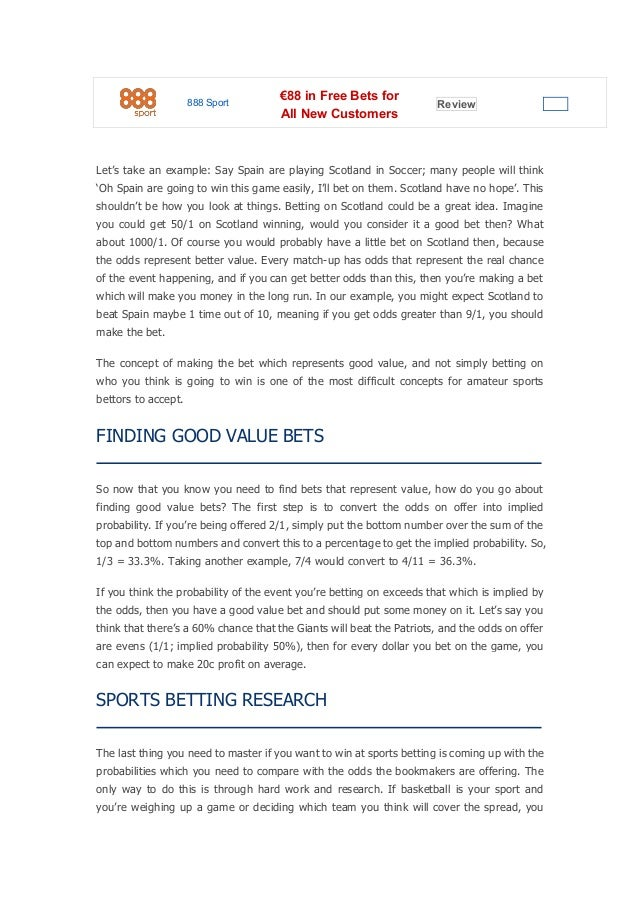 Sports gambling how to win