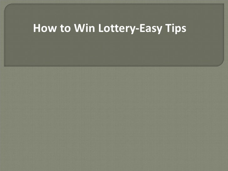 STRATEGY TO WIN LOTTERY