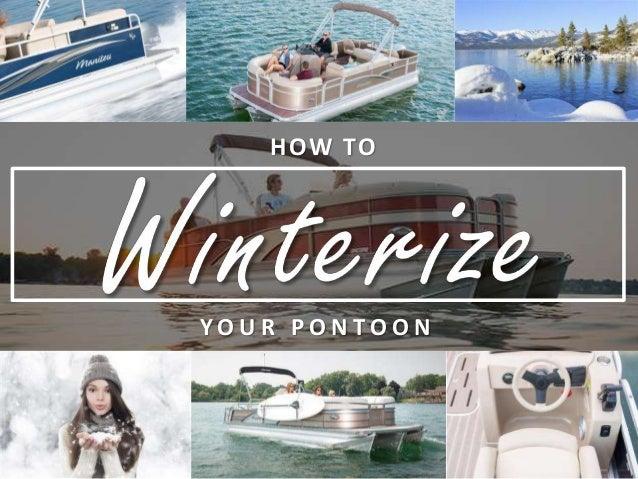 How to Winterize your Pontoon