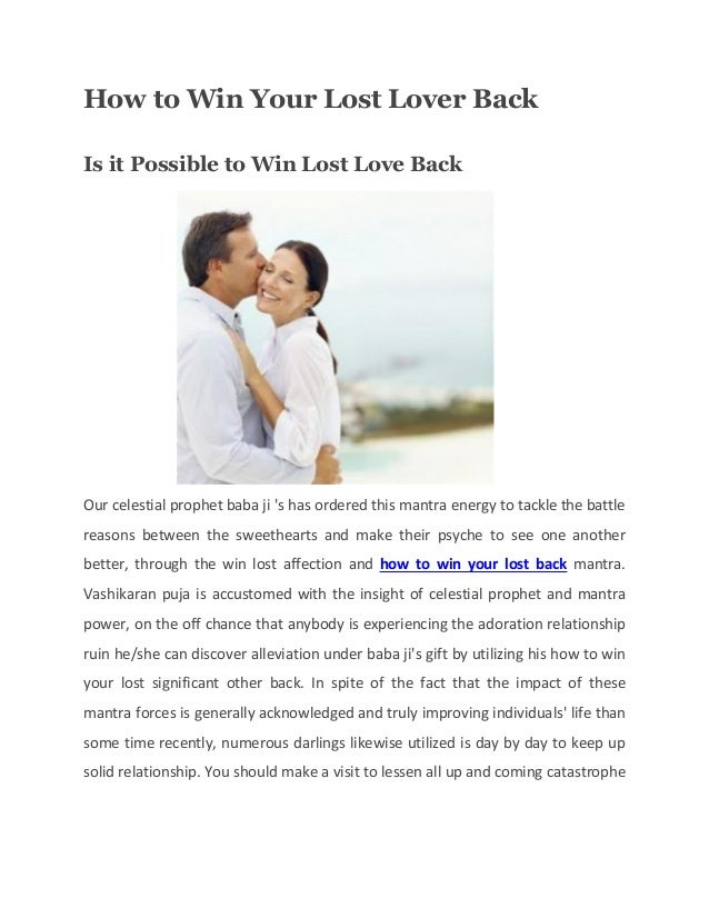 How to win your lost lover back