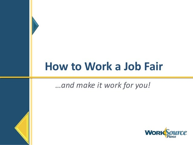 How to Work a Job Fair…and make it work for you!
